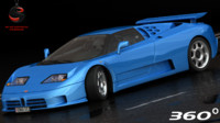 3d bugatti eb110 ss 1992 model