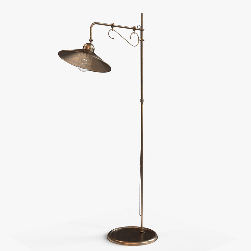 3d model floor lamp lighting