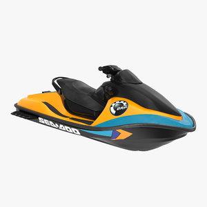 jet ski sea-doo 2 3d model
