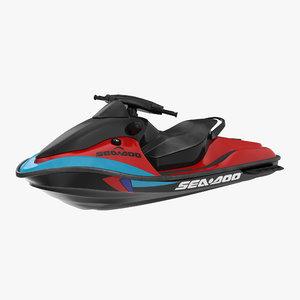 jet ski sea-doo rigged 3d max