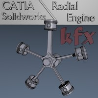 radial engine 3d model