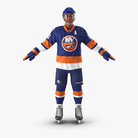 hockey player islanders 3d 3ds