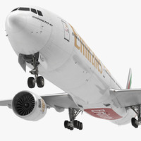 3d model boeing emirates airlines