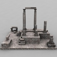 3d model ammanruins