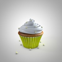 3d model cupcake
