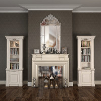 fireplace liveroom set max