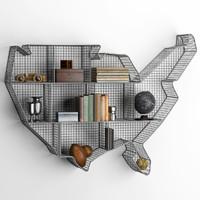 shelf usa zinc maps 3d model