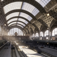 3d model photorealistic la gare d