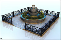 3d fountain fount model