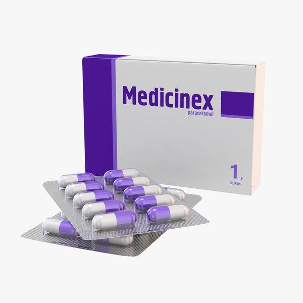 medication pills capsule 3d max