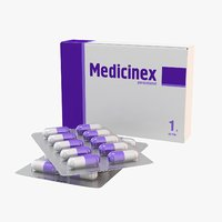 medication pills capsule 3d max