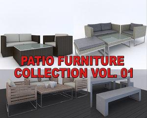 max realistic patio furnitures