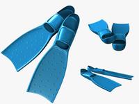 flippers fins 3d model