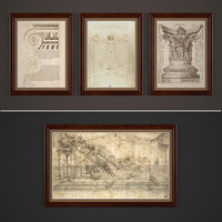 3d paintings classic style model