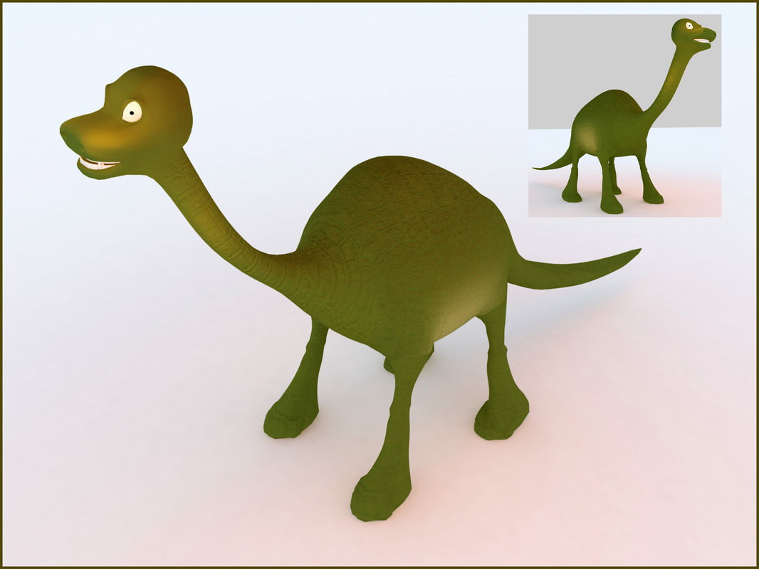 3d dinosaur open source model