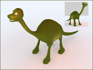 3d dinosaur open source model