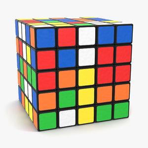 rubiks cube 5x5 3d c4d