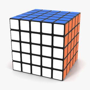 3d model rubiks professional 5x5 cube