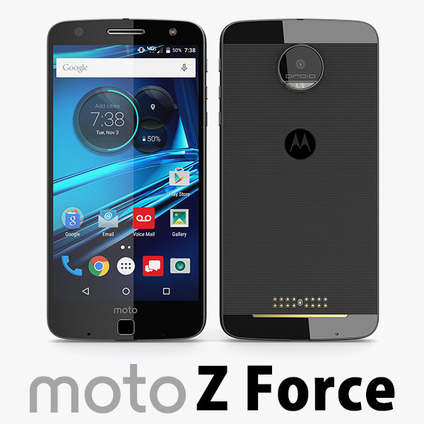 motorola moto z force 3d model
