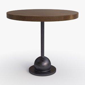 3d model bddw cannon table