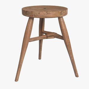3d model of bddw milking stool