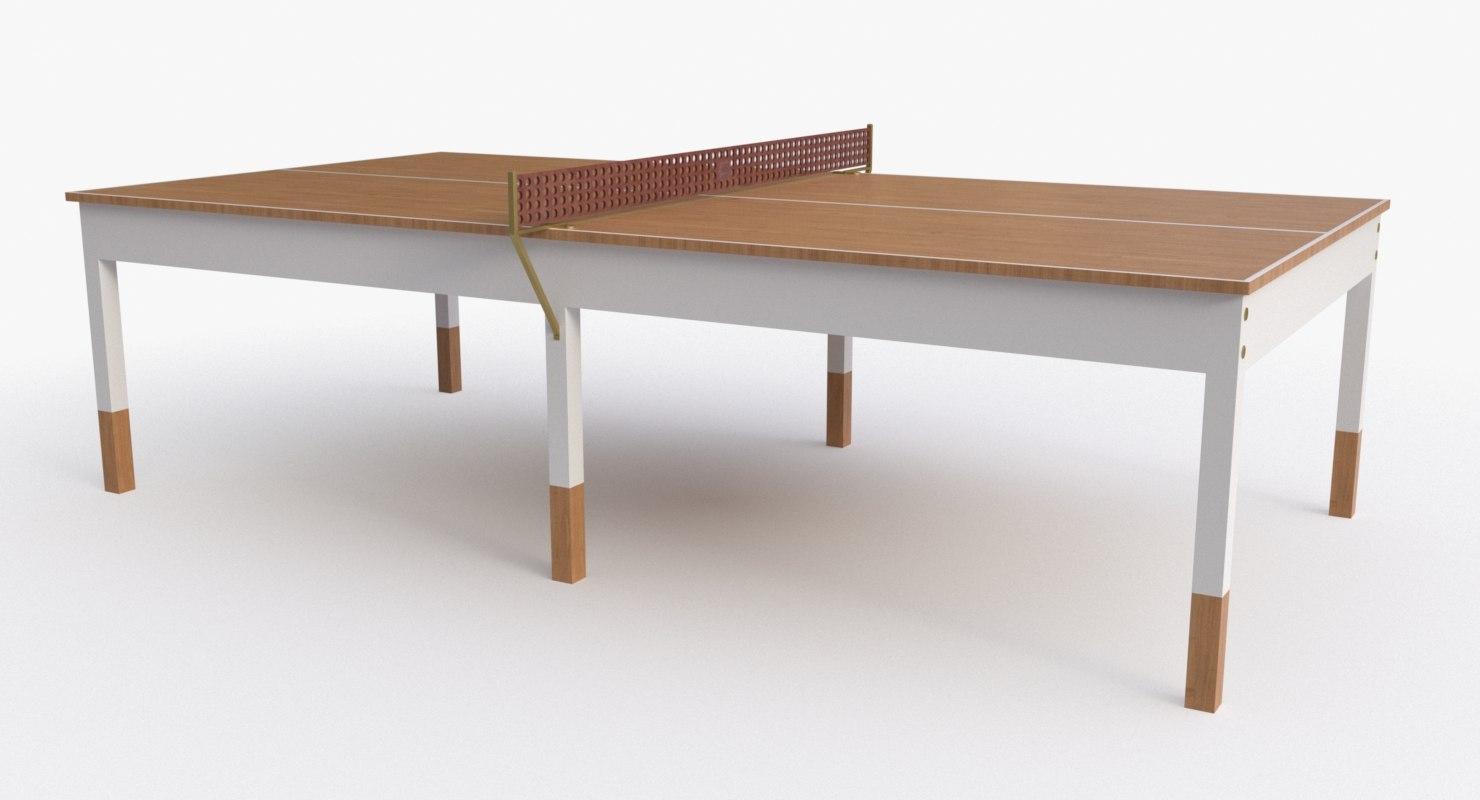 bddw ping pong table 3d model