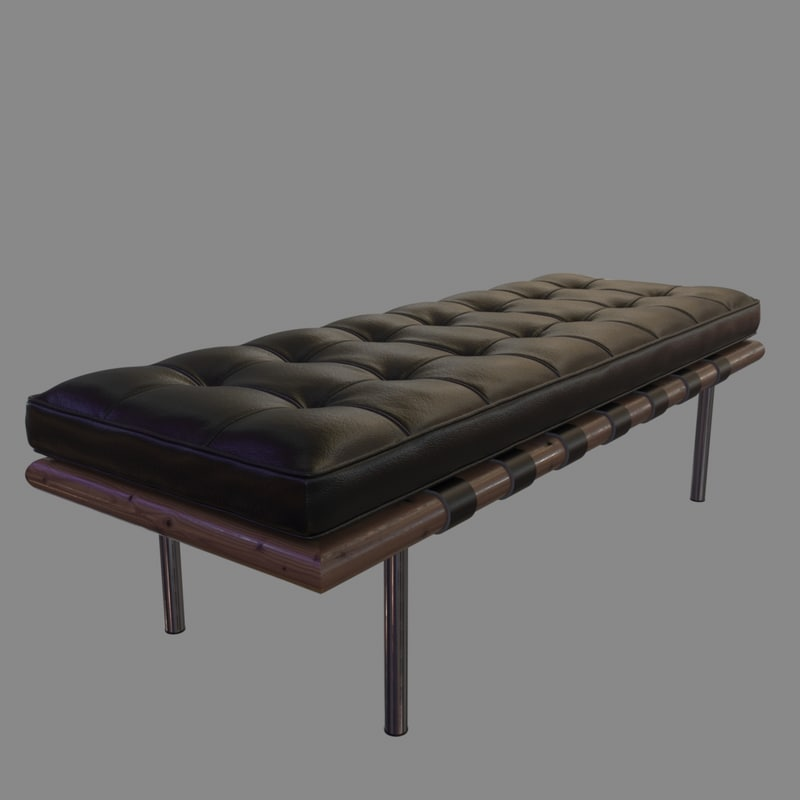 barcelona bench 3d max
