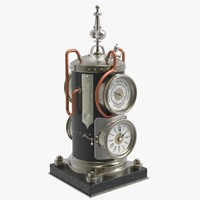 french boiler clock 3d model