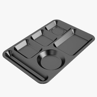 Lunch Food Tray 01 Black