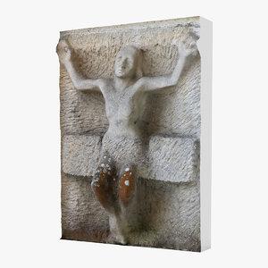 jesus statue 3d max
