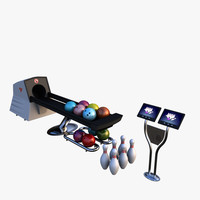 bowling equipments 3d model