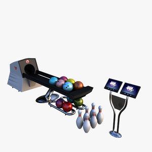 bowling equipments 3d model