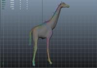 rigged giraffe 3d ma