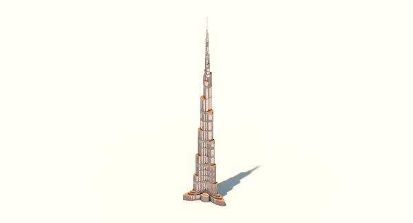 3d burj kharifa model