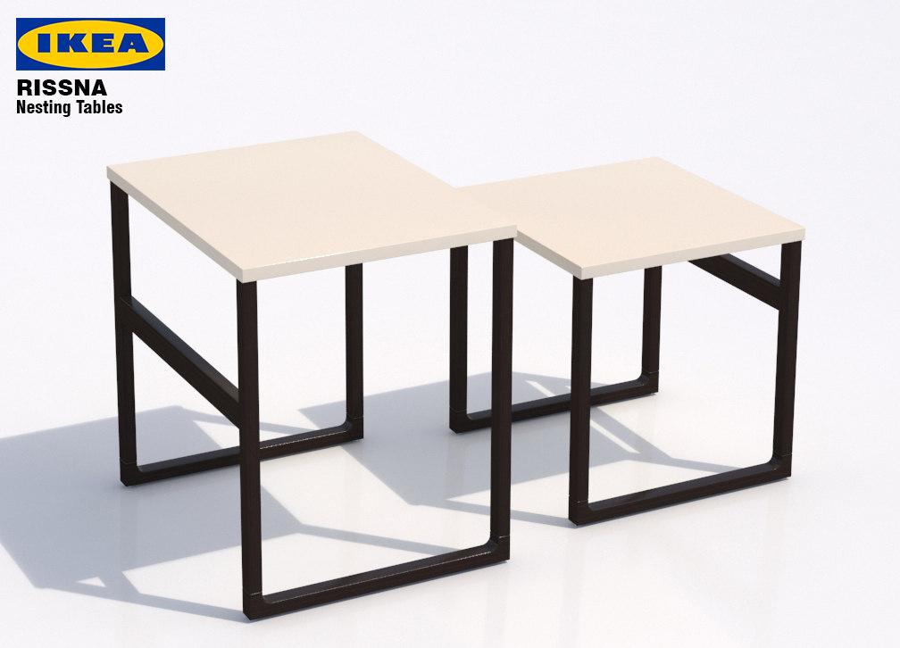 3d Model Ikea Rissna Nesting Tables