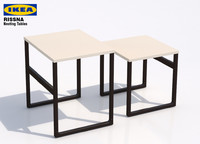 3d model ikea rissna nesting tables