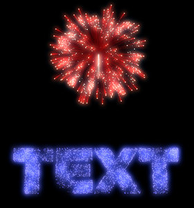 fireworks text 3d model