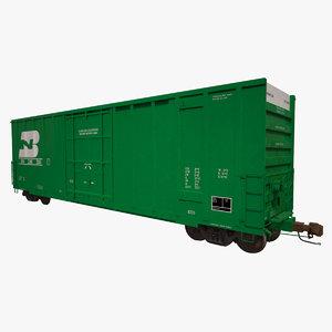 3d model a405 boxcar rails cargo
