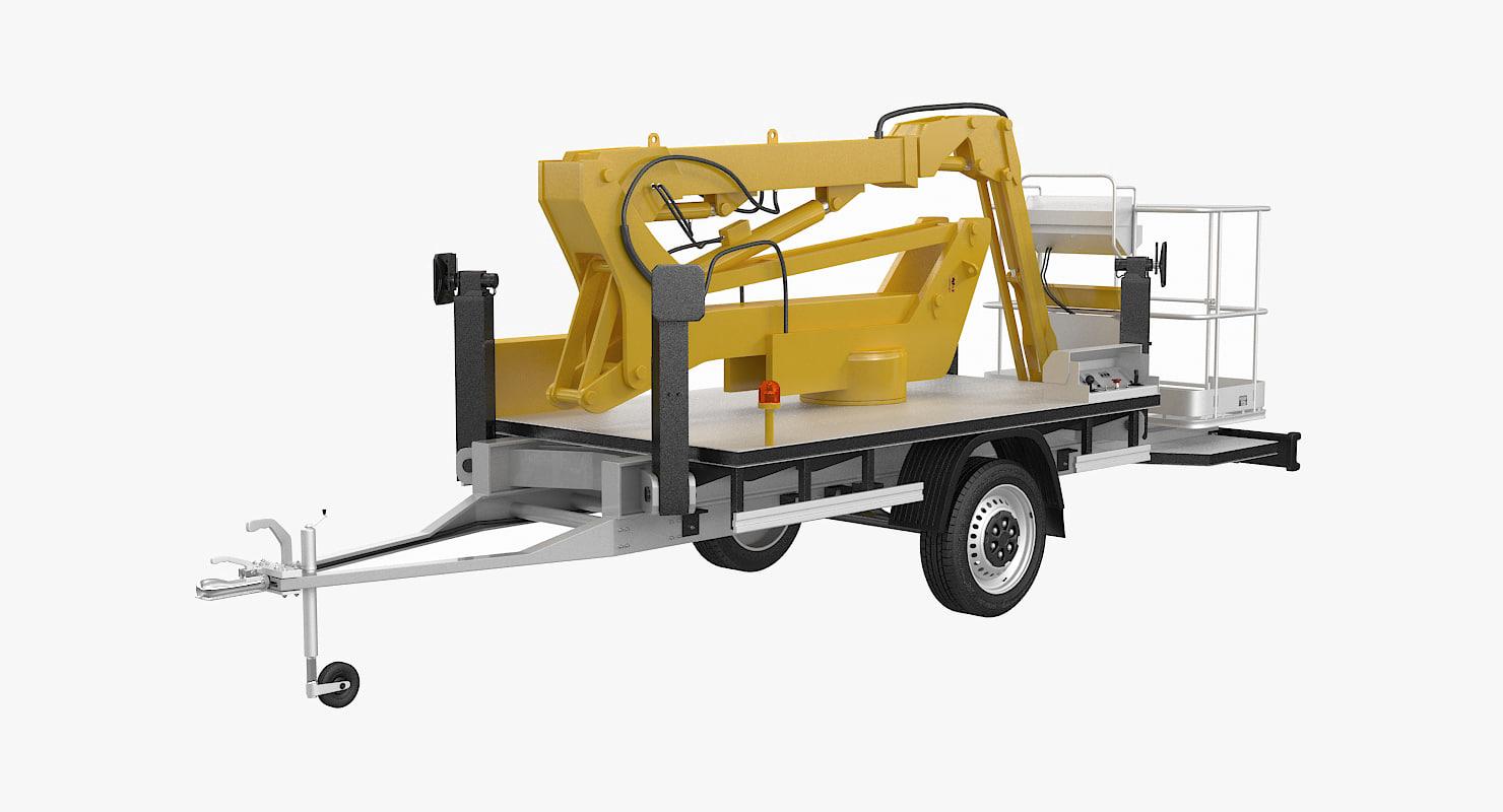 3d cherry picker trailer