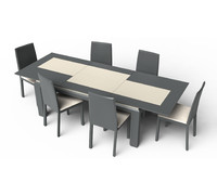 Extendable Modern Table Set
