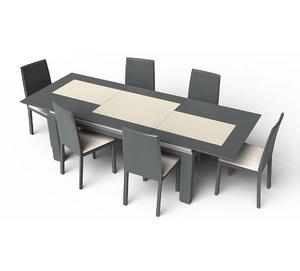 obj set modern table chair