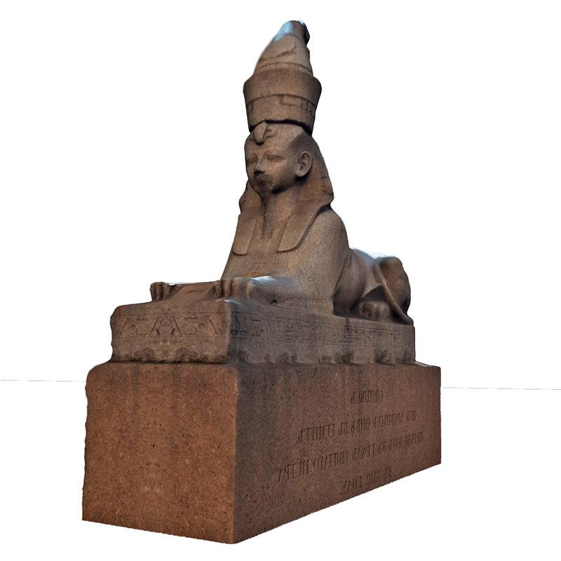 sphinx historical 3d model