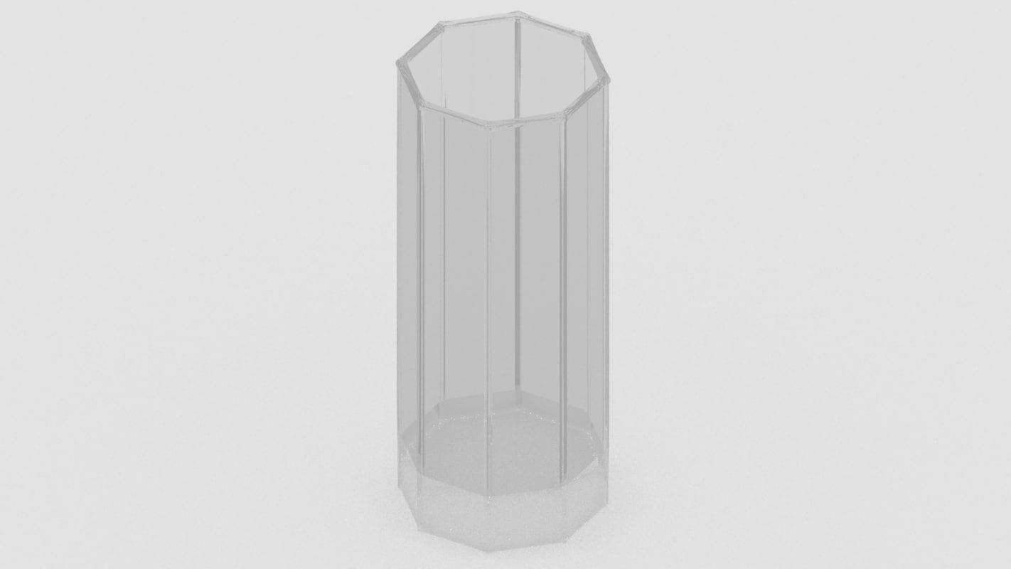 octagonal glass x