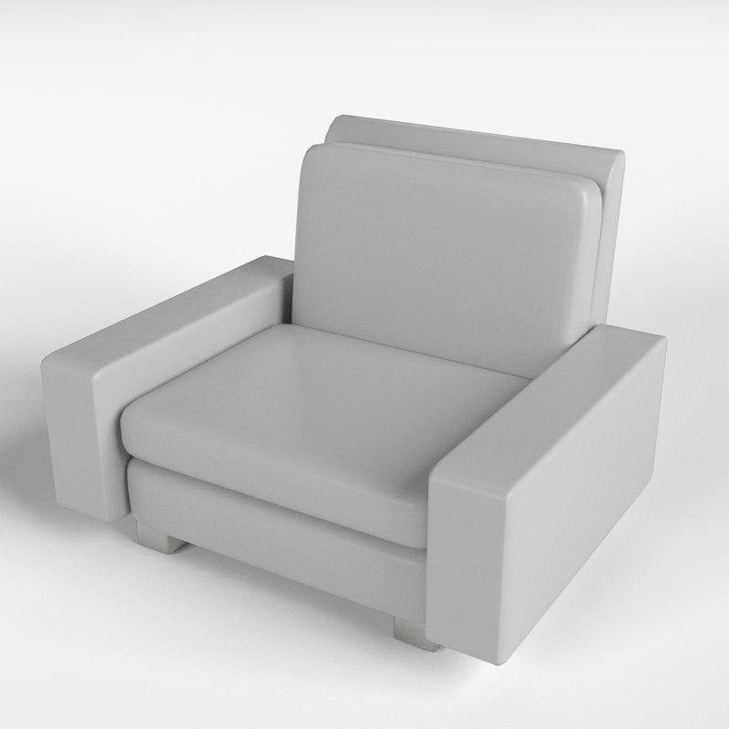 3d armchair 9 model