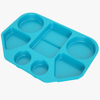 3d model of lunch food tray