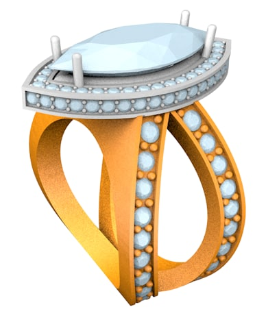 marquise ring 3d model