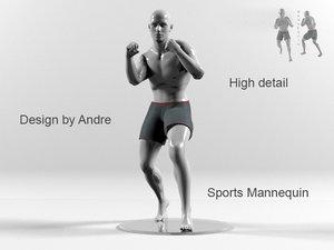 sports mannequin boxer 3d max