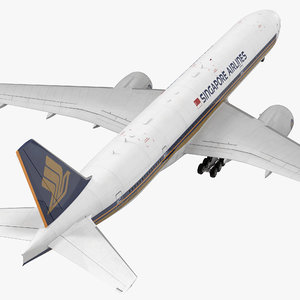 boeing 777-8x singapore airlines 3d model