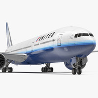 boeing united airlines 3d model
