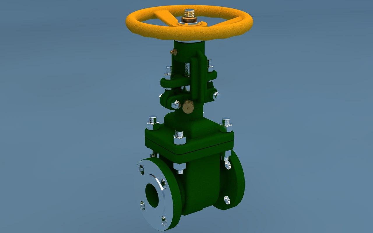 3d model of gate valve